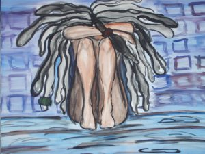 This Cold Hard Floor: II, watercolour and ink painting by Diedré M. Blake, 2006