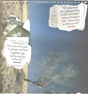 """If you had 5 minutes...,""  collage with magazine and cardstock by Diedré M. Blake, (2010)"
